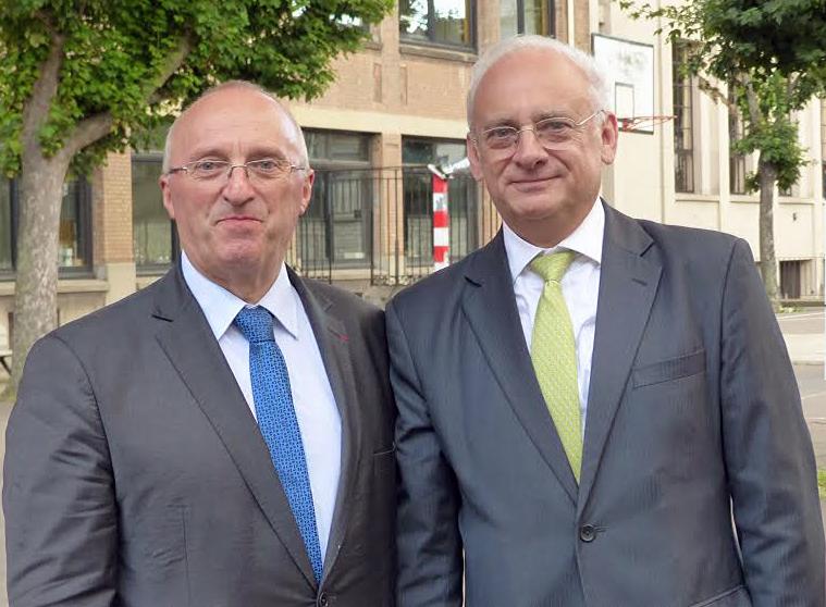 M. Corre, proviseur du lycée Henri-IV et M. Lixi, président du Fonds de Dotation